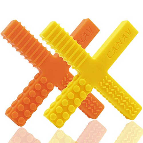 Sensory Chew Stick Toys for Kids, Boys & Girls – Designed for Autism, Teething, Chewing, ADHD, SPD, Oral Motor Needs- Silicone Teether Toy (2 Pack)