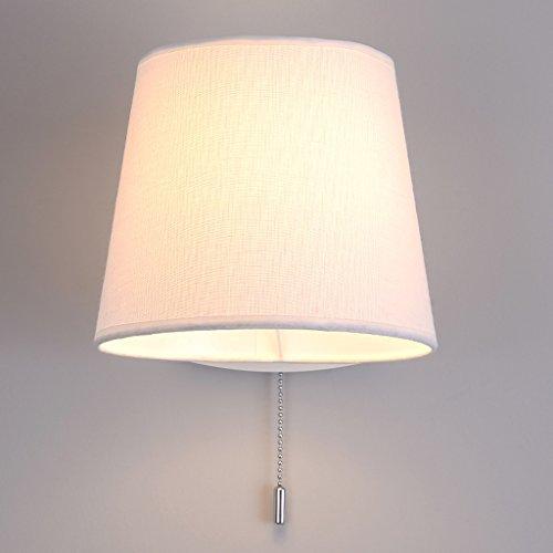 SKC Lighting-Applique murale Tête de lampe de lampe de mur peut être tourné tirent la lumière de mur de tissu d'interrupteur de lumière/lampe de chevet de corps de fer forgé pour la chambre à coucher
