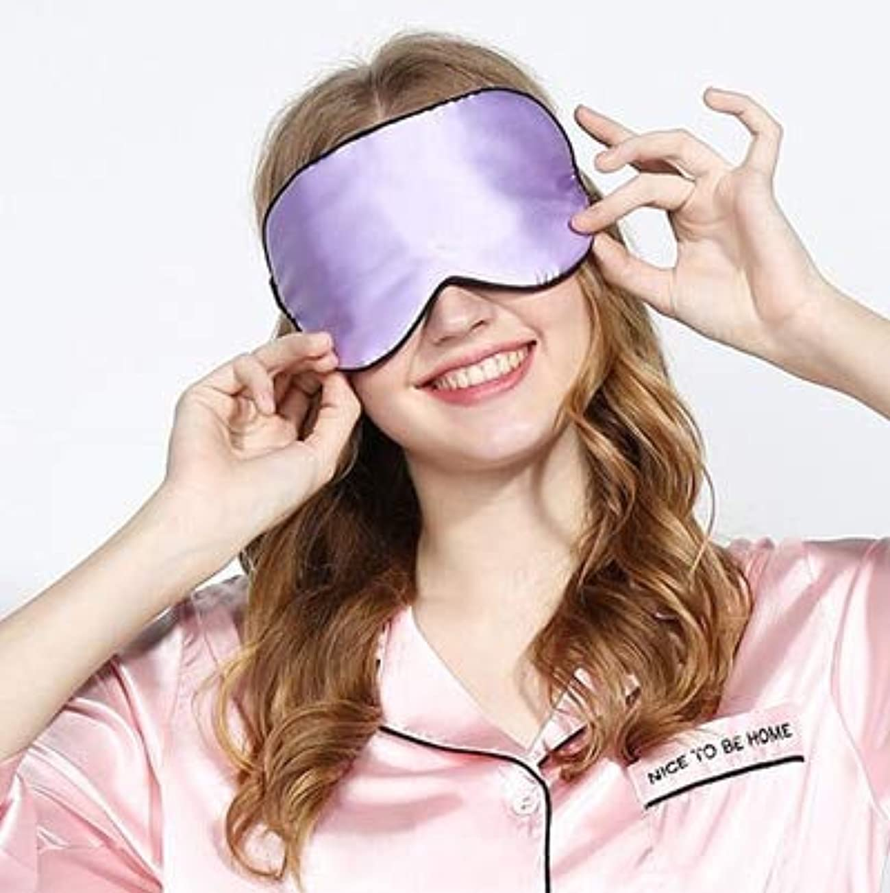 賢明なパイロット相手NOTE 100%シルクアイマスクで1個カスタムカラー両面純粋なマルベリーシルクアイマスクブラックシェーディングスリープ
