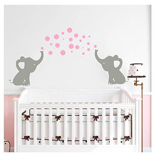 BDECOLL Tres lindos elefante pared calcomanía con lengua de amor Baby bebé...
