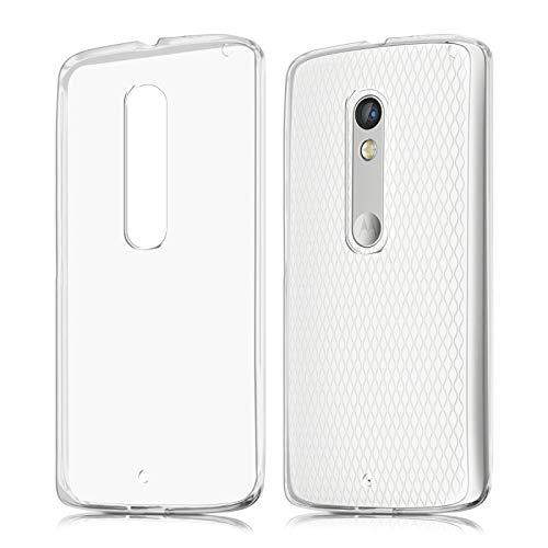 Takeon Cover Trasparente Custodia Morbida per Moto X Play Motorola TPU Silicone 0,3mm
