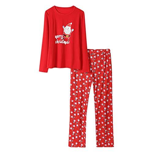 Conjuntos de Pijama para Mujer Taoytou, Conjunto de Ropa de 2 Piezas Pijama de Manga Larga con Estampado de Navidad...