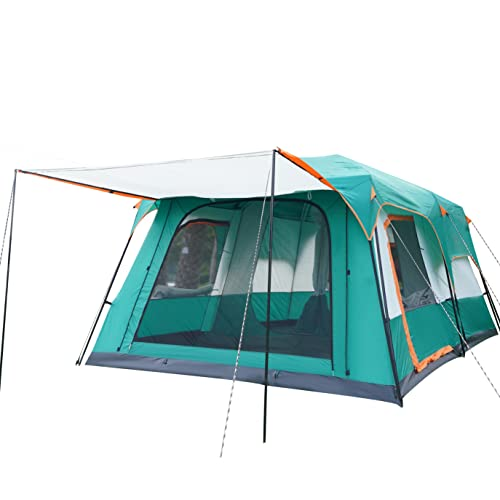KTT Large Tent 8~10 Person,Family Cabin Tents,2 Rooms,Straight Wall,3 Doors...