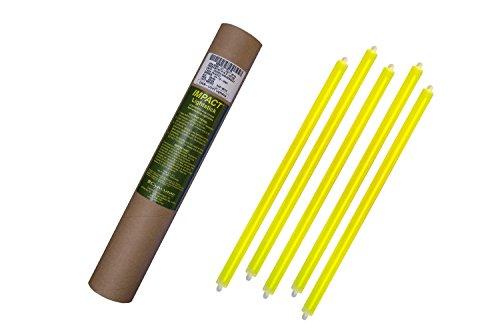 Cyalume - Paquete de 20 tubos luminosos SnapLight Impact, 40 cm, 15 pulgadas, 2 Anillas, 12 horas, no-embalados individualmente, color amarillo