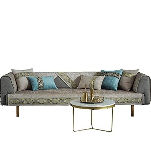 Moderno Color sólido 1 2 3 4 plazas Cojín para sofá en Forma de L Funda de sofá para Asiento de Amor Funda de Cuero en Forma de L para sillón reclinable,Camel,70 * 120cm
