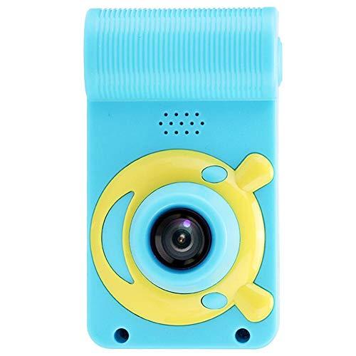sjlerst Fotocamera Digitale per Bambini da 2 MP, Mini Fotocamera Digitale per Bambini Giocattoli HD Videocamera Batteria Ricaricabile Integrata da 600 mAh, Regalo di Compleanno per Il Festival(Blu)