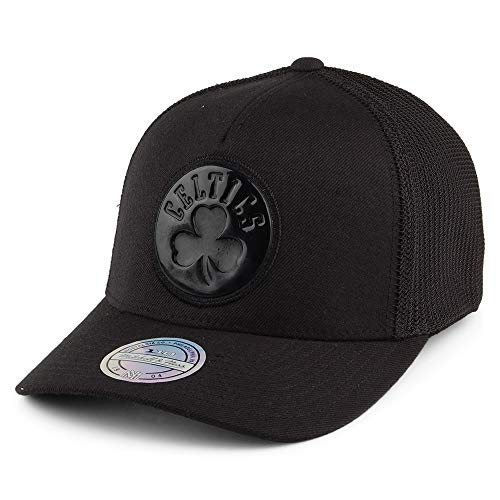 Mitchell & Ness Gorra Trucker Zig Zag Boston Celtics Negro - Ajustable