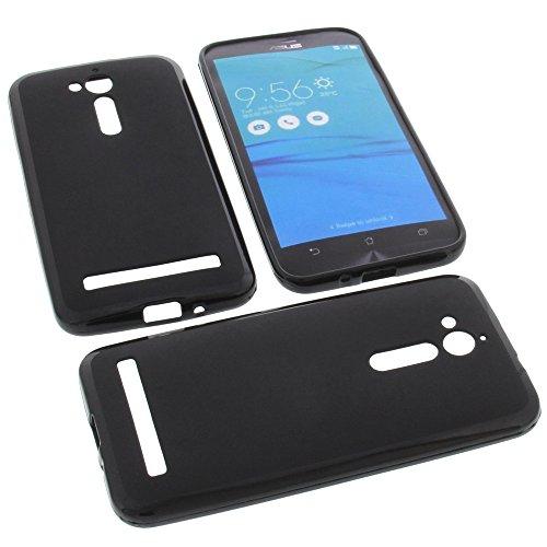 foto-kontor Tasche für Asus ZenFone Go ZB500KG Gummi TPU Schutz Handytasche schwarz