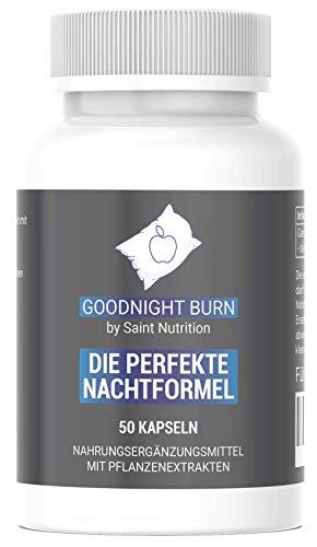 Saint Nutrition® GOODNIGHT F-BURN Kapseln - 1 Kapsel für die Nacht mit Garcinia Cambogia - für Männer & Frauen, schnell + Vegan - Hochdosiert & Hergestellt in Deutschland