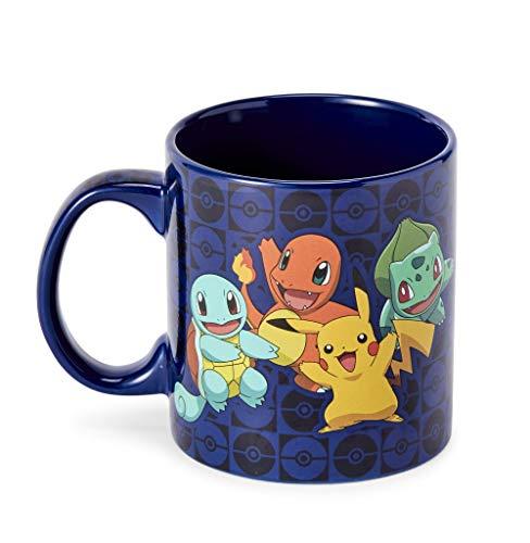 Pok mon Original Generation One Starters Taza de café Pikachu Charmander Bulbasaur Squirtle Ceramic Build