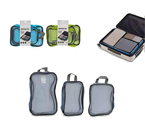 takestop® reistas set 3 stuks met ritssluiting zak zak zak zak zak organizer compact verschillende maten tas SALVASPAZIO kleur willekeurig
