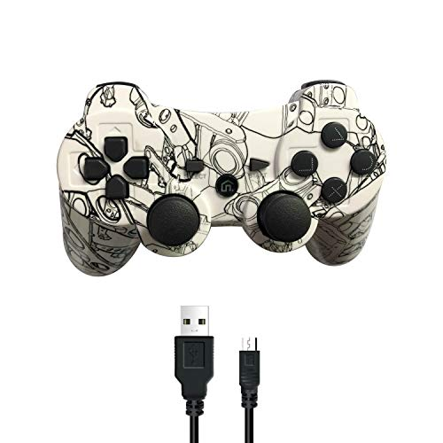 Puning Wireless Controller for PS3 Controller, Wireless Controller with Upgraded Joystick Compatible with Sony Playstation 3(Machine)