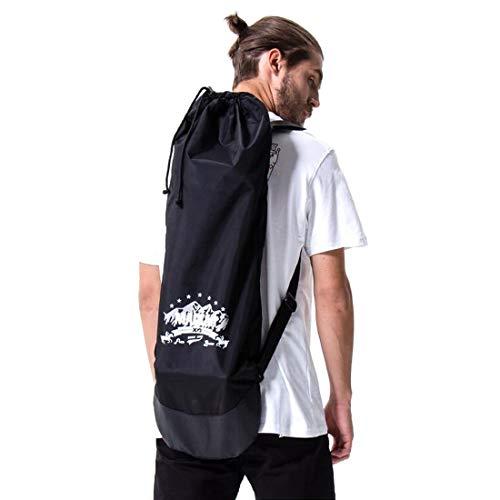 Dratumyoi スケートボード カバー スケボー収納バッグ 携帯用ケース リュック 袋 大容量 防水 持ち運びに便利 小物ポケット付き ナイロン製 バッグパック