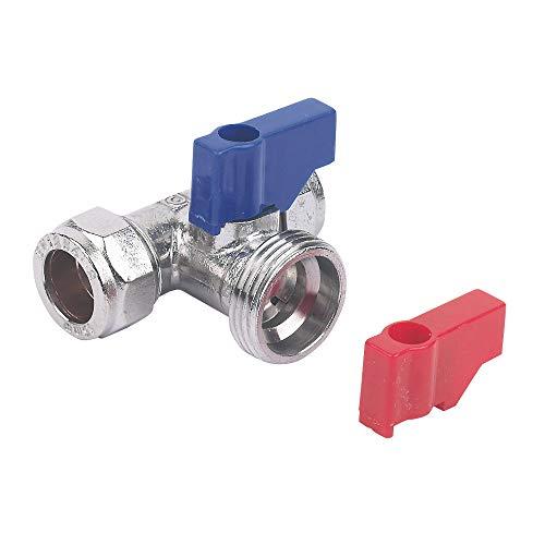 Plumb Pak - Connettore a T per rubinetto lavatrice/lavastoviglie,15 x 15 mm x 3/4', Confezione da 1