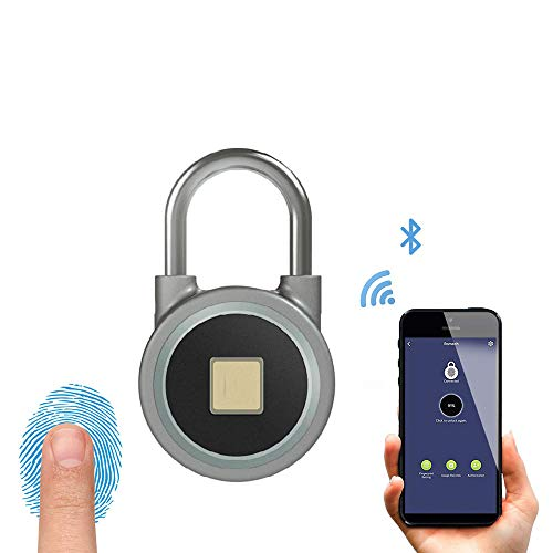 YSYDE Vingerafdruk hangslot, Bluetooth Connectie Metaal Waterdicht, Usb Opladen, voor Geschikte Thuis koffer Rugzak Gym Fiets Office, Goederen die u wilt beschermen
