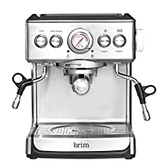 HOME ESPRESSO: Features a stable high pressure Italian pump with gauge indicator & low pressure pre-infusion for balanced extraction. The 1250 watt thermal coil system provides consistently hot espresso. MICROFOAM WAND: Featuring a powerful thermal c...