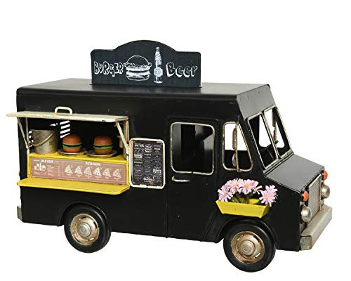 Decoris Modellauto Foodtruck 17,5cm x 1 Stück Spielzeugauto Imbisswagen