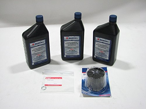 Suzuki Genuine 3-Quart Full Synthetic Oil Change KIT 990A0-01E40-3KT