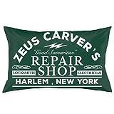 WH-CLA Pillowcase Die Hard Zeus Carvers Repair Shop Gorra De Camionero para El Hogar Decorativo Anime Exclusivo Silla con Cremallera Funda De Cojín Impresa Acogedora Funda De Almohada Re