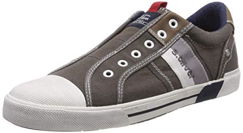 s.Oliver Herren 5-5-14603-22 200 Slip On Sneaker Grau (Grey 200), 43 EU