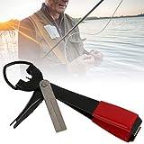Keenso Cortador de línea de pesca de metal, cortador de alambre de mosca, cortador de línea de pesca, cortador de hilo de pesca herramienta de nudo rápido (cortador de línea de pesca)