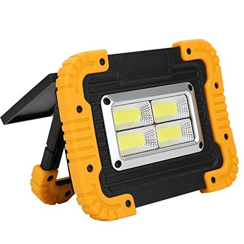 FECAMOS Luz para Acampar al Aire Libre, linternas de Supervivencia portátiles súper Brillantes, lámpara de Trabajo COB Impermeable Recargable por USB, luz de Emergencia portátil Solar