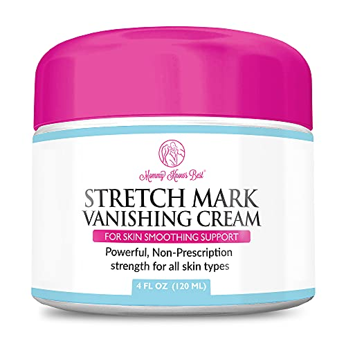 Stretch Mark Cream for Pregnancy & Scar Removal - 100% Retinol Free - Mommy Knows Best Maternity Stretch Marks Cream Removal Treatment with Cocoa and Shea Butter - 4 fl oz