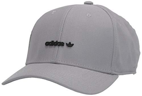 adidas Originals - Cappello da Uomo con Logo Forum in Metallo, Uomo, Cappello, 977783, Grigio/Nero, Taglia Unica