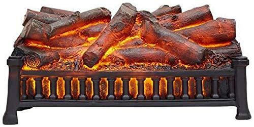 Y DWAYNE Chimenea Ornamental eléctrica Chimenea de carbón Desnudo sin calefacción Estufa de decoración LED con Llama ardiente simulada en 3D.Chimenea electrónica con Efecto carbón