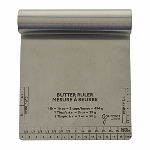 Gourmet by Starfrit 803485 Butter Measure and Scraper, Silver