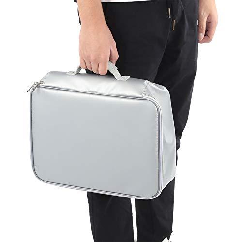 Cikonielf - Portadocumentos para hombre, bolsa de hombro ignífuga, impermeable, para ordenador portátil, negocio, bolso de mujer, diseño de cerradura codificada, 37 x 30 x 10 cm