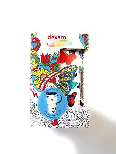 Just Add Colour - Céramique Couleur Votre tasse de Voyage propre (Butterfly Kisses)