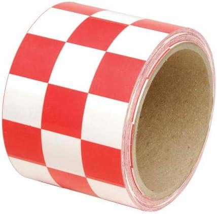 INCOM Checkerboard Hazard Tape - Red 1 3