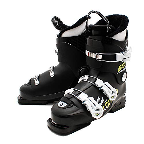 Salomon Botas ALPINAS Team T3 Ski-Stiefel, Black/Acid Gree/Wh, 36.5 EU