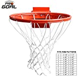 PROGOAL Heavy Duty Basketball Rim Breakaway Single Spring Rim Replacement 5/8-In, Indoor and Outdoor Fit Most Size...
