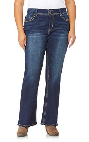 WallFlower Juniors Luscious Curvy Short Inseam Basic Bootcut Jeans in Scarlett Size: 17 Short New Mexico