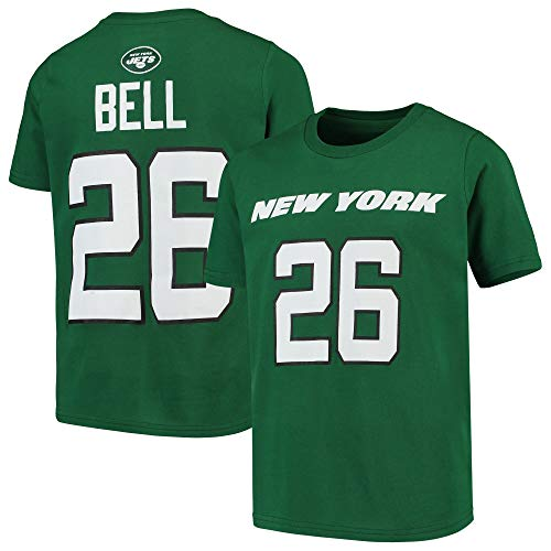 Outerstuff Leveon Bell New York Jets Green Youth 8-20 Mainliner Name & Number Player T-Shirt (Small 8)