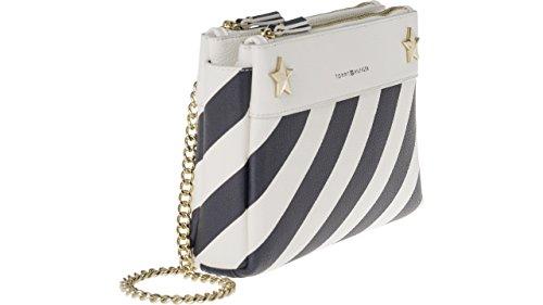 Tommy Hilfiger Cool Hardware Crossover Damen Handtasche Umhänge Tasche Schultertasche Taschen AW0AW05256-901 Weiß Blau
