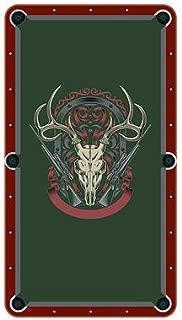 Unique Textile Printing Deer Skull with Rifles Billiard Cloth Pool Table Felt