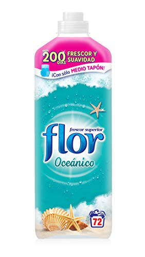 Flor - Suavizante para la ropa concentrado, aroma frescor oceánico - 72 dosis