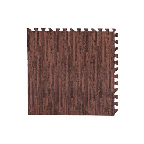 VOSAREA 30cm Waldboden Dicke gedruckte Holzmaserung, die Schaumstoff-Fußmatten ineinander greift
