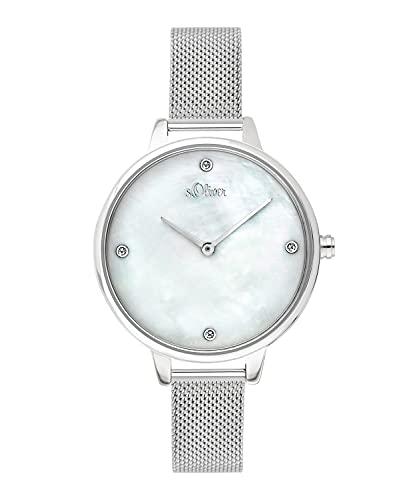 s.Oliver Damen-Armbanduhr Analog Quarz Edelstahl SO-3655-MQ
