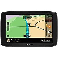 TomTom GO Basic, GPS para coche, 5 pulgadas, actualizaciones mediante Wi-Fi, traffic para toda la vida mediante smartphone y mapas de la UE, mensajes de smartphone y pantalla resistiva