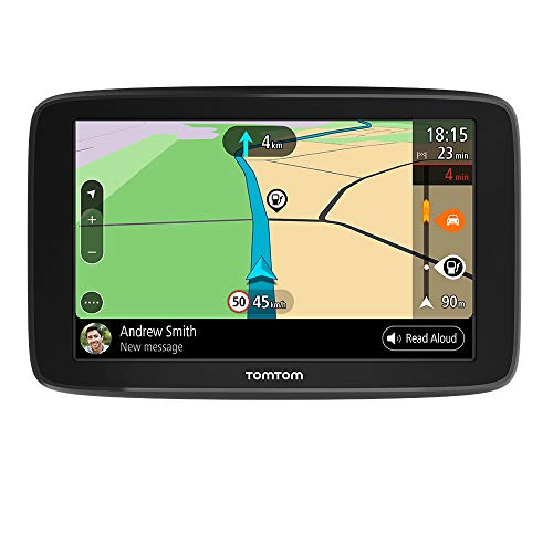 TomTom GPS Voiture GO Basic 6'' - 6 Pouces Cartographie Europe 49, Trafic via Smartphone, TomTom Road Trips, Wi-Fi intégré