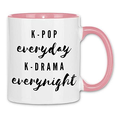 Print Dynastie Taza K-Pop everyday K-Drama everynight Serie Pop Music Korea Black,...