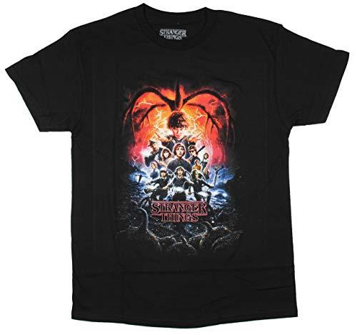 Stranger Things Full Cast Logo T-Shirt, 2X-Large Black