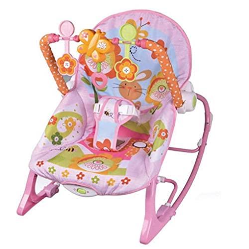 Swing de cuna eléctrica del bebé con soporte de juguete, baby bohing para recién nacido, mecedora de metal con reproductor de música ligera, baby bassinet WDH666