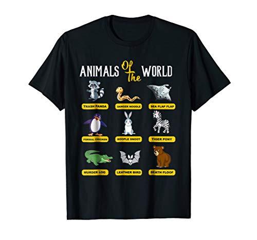 Animals Of The World T-Shirt Funny Animal Real Names shirt