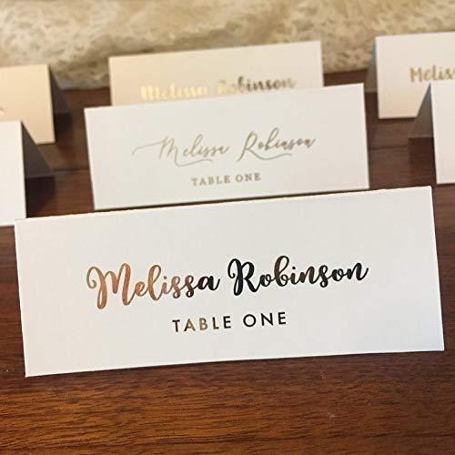 Amazon.com: Wedding Place Cards - Custom Font Foil Printed Place