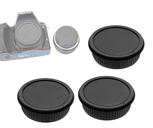 (3-Pack) Rear Lens Cap for Pentax K Mount, PK Lens Cap, Kmount Lens Rear Cover, PK Camera Body Cap for Pentax K K-70 K-1 K-3 II K-S2 K-S1 K-3 K-50 K-30 K-5 IIs K-5 II K-5 K-500 K-50 K-30 K-x K-7 K-m